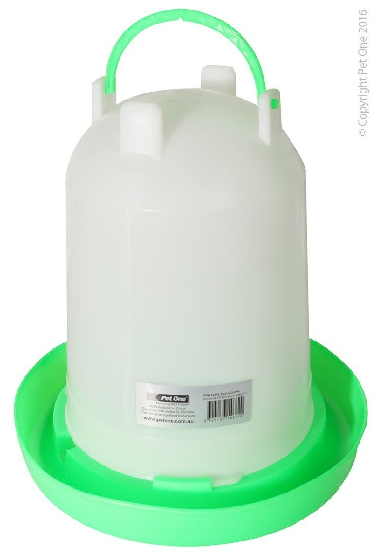 PET ONE POULTRY GRAVITY DRINKER 6L (27.6CM DIA X 28.8CM H) 55713 - City Country Pets and Supplies