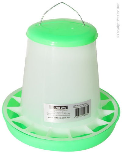 PET ONE POULTRY GRAVITY FEEDER 2KG (20CM DIA X 26CM H) 55705 - City Country Pets and Supplies