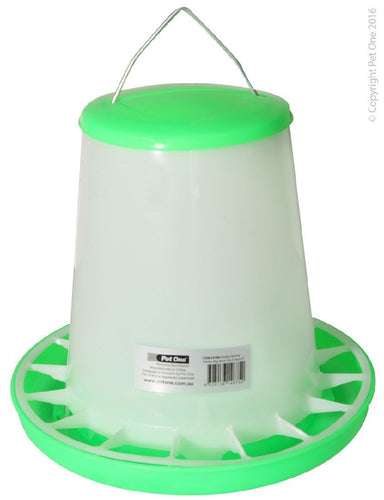 PET ONE POULTRY GRAVITY FEEDER 4KG (28CM DIA X 26CM H) 55706 - City Country Pets and Supplies