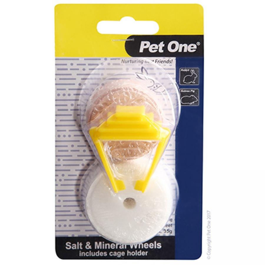 PET ONE SALT LICK AND MINERAL WHEEL WITH CLIP 50G - City Country Pets and Supplies