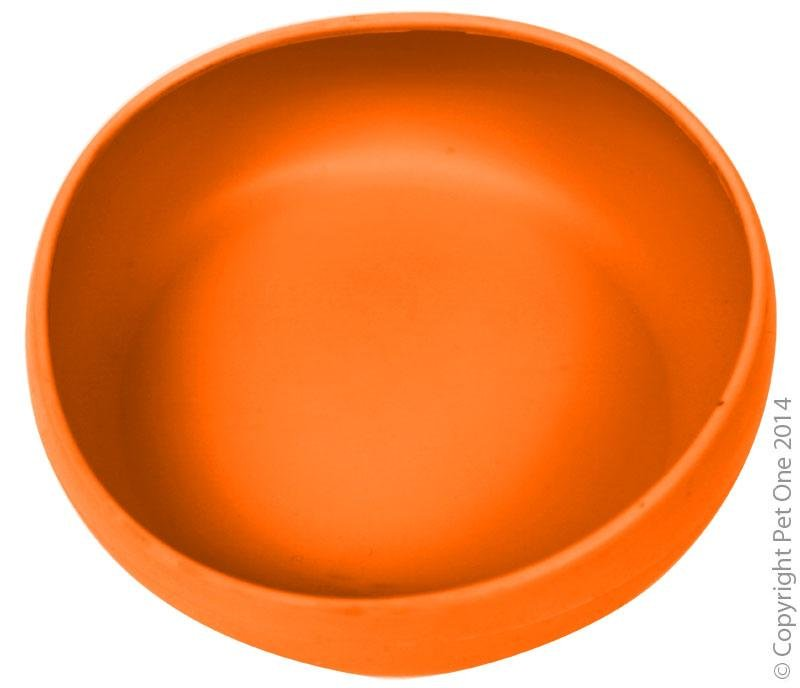 PET ONE SILICONE PORTABLE PET BOWL 470ML ORANGE - City Country Pets and Supplies