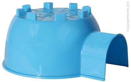 PET ONE SMALL ANIMAL HIDE PLASTIC IGLOO BLUE (L - 30X26.5X14CM) - City Country Pets and Supplies
