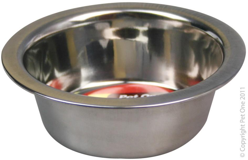 PET ONE STANDARD S/STEEL DOG BOWL 180ML - City Country Pets and Supplies