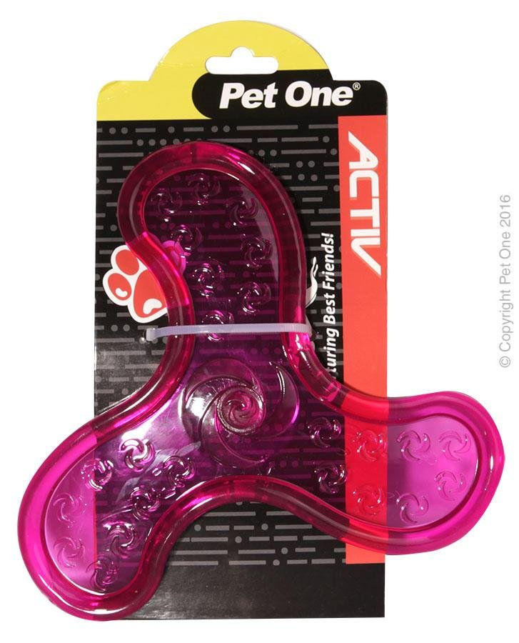 PET ONE TPR FLYER PINK - City Country Pets and Supplies