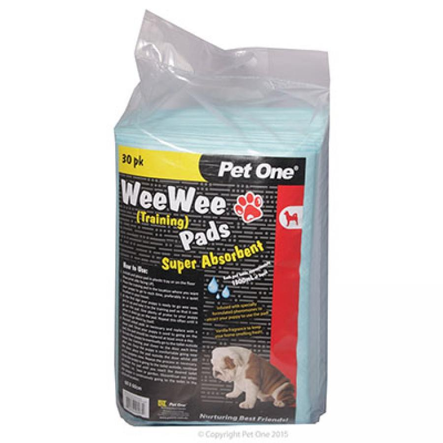 PET ONE WEE WEE TRAINING PADS 60X60CM 30PK (1300ML ABSORBENCY) - City Country Pets and Supplies
