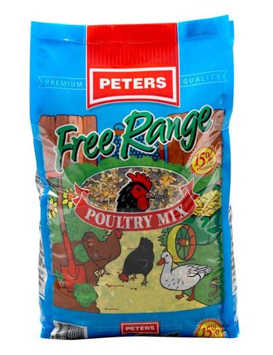 PETERS FREE RANGE POULTRY MIX 5KG - City Country Pets and Supplies