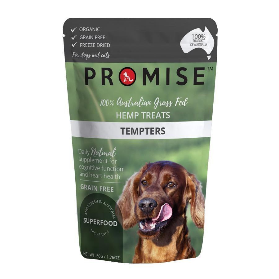PROMISE GRAIN-FREE ORGANIC BEEF LIVER HEMP TREATS TEMPTERS 50G - City Country Pets and Supplies