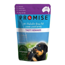 Load image into Gallery viewer, PROMISE GRAIN-FREE ORGANIC LAMB LIVER BITES TREATS TASTY REWARD 50G - City Country Pets and Supplies