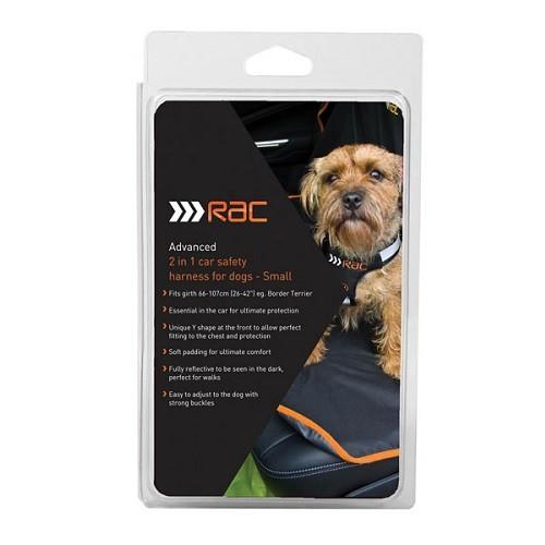 RAC 2-IN-1 ADVANCED CAR SAFETY HARNESS FOR DOGS (SMALL - GIRTH 50-60CM) - City Country Pets and Supplies