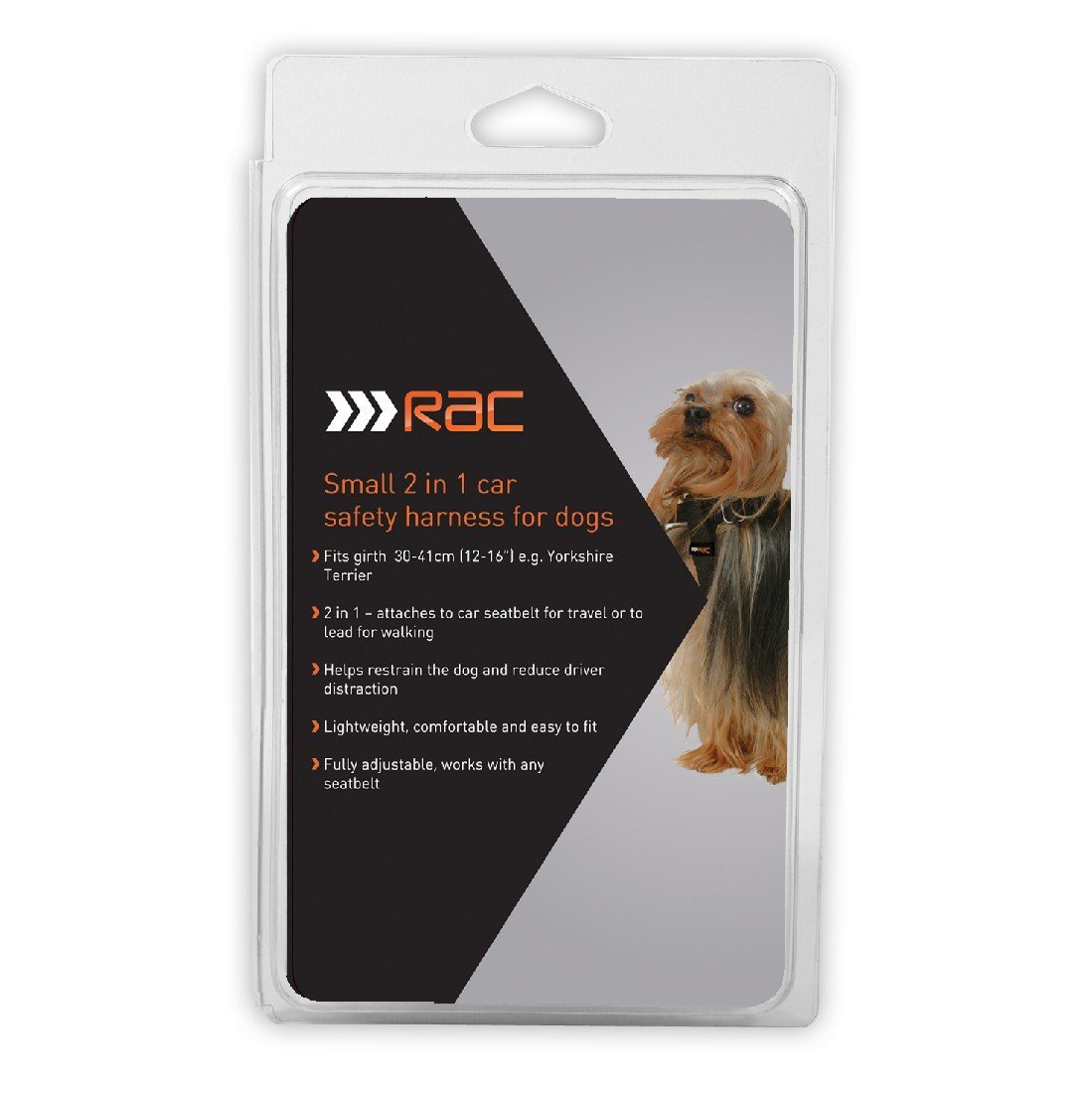 RAC 2-IN-1 CAR SAFETY HARNESS FOR DOGS (SMALL - GIRTH 30-41CM) - City Country Pets and Supplies