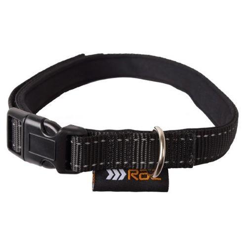 RAC DOG COLLAR PADDED REFLECTIVE LARGE 45-70CM X 2.5CM - City Country Pets and Supplies
