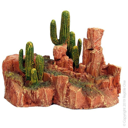 REPTILE ONE CACTUS GARDEN WITH RESIN BASE LARGE 15.5X10X13.5CM - City Country Pets and Supplies