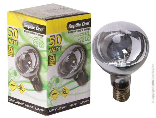 REPTILE ONE DAYLIGHT HEAT LAMP GLOBE 50W (E27 SCREW FITTING) - City Country Pets and Supplies