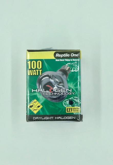 REPTILE ONE HALOGEN DAYLIGHT GLOBE 100W E27 SCREW FITTING - City Country Pets and Supplies