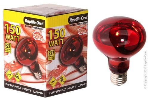 REPTILE ONE INFRARED HEAT LAMP GLOBE 150W (E27 SCREW FITTING) - City Country Pets and Supplies