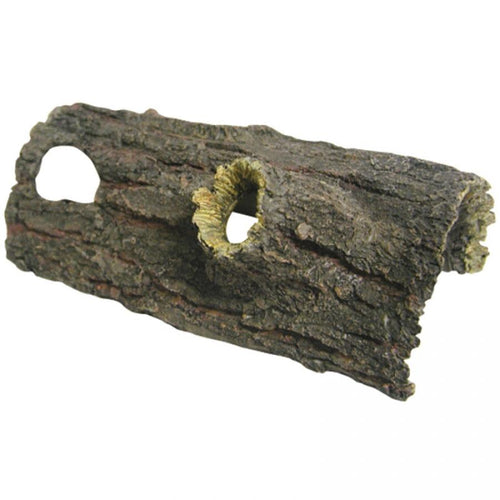 REPTILE ONE ORNAMENT LOG WITH HOLES (S) 21X10.5X8CM - City Country Pets and Supplies