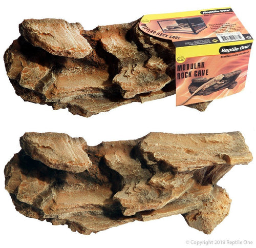 REPTILE ONE ROCK CAVE MODULAR STACKABLE (M) 30.5X10.5X10.5CM - City Country Pets and Supplies