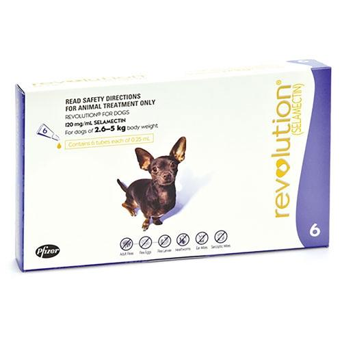 REVOLUTION FOR SMALL DOGS 2.6-5KG (6 PACK + CANEX) - City Country Pets and Supplies