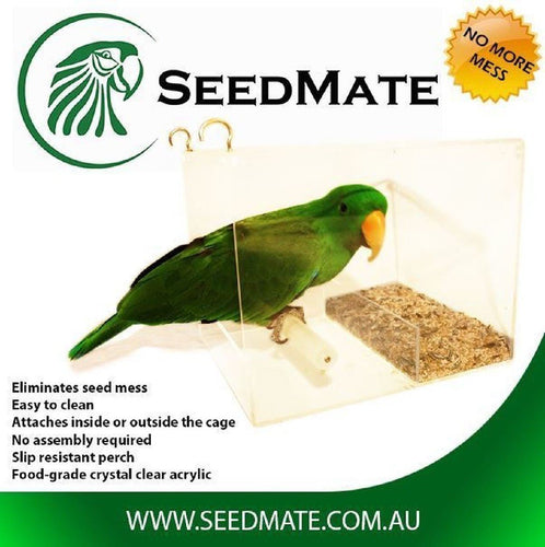SEEDMATE NO MORE MESS BIRD FEEDER LARGE 25X20X20CM - City Country Pets and Supplies