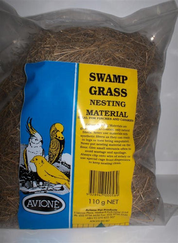 SWAMP GRASS NESTING MATERIAL FOR FINCHES 110G AVIONE - City Country Pets and Supplies
