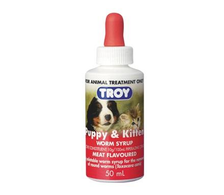 TROY PUPPY & KITTEN WORM SYRUP 50ML - City Country Pets and Supplies