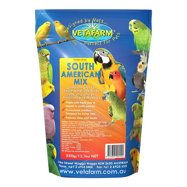 VETAFARM SOUTH AMERICAN MIX 350G - City Country Pets and Supplies