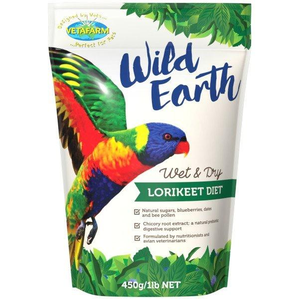 VETAFARM WILD EARTH WET AND DRY LORIKEET DIET FOOD 450G - City Country Pets and Supplies