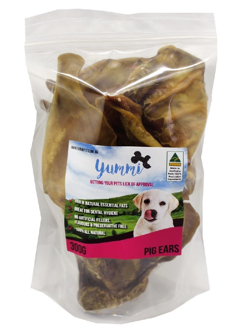 YUMMI PET AUSTRALIAN PIGS EARS 300G - City Country Pets and Supplies