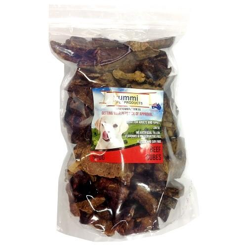 YUMMI PET BEEF CUBES DOG TREATS 500G - City Country Pets and Supplies