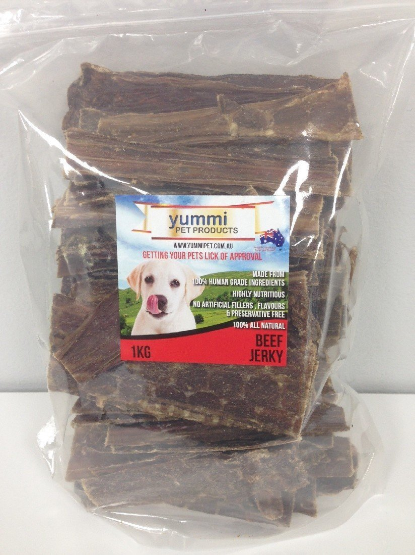 YUMMI PET BEEF JERKY DOG TREATS 1KG - City Country Pets and Supplies