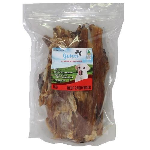 YUMMI PET BEEF PADDYWACK TREATS 1KG - City Country Pets and Supplies