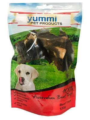YUMMI PET BEEF TRIPE TREATS 120G - City Country Pets and Supplies