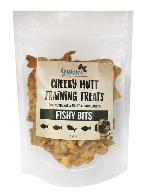 YUMMI PET CHEEKY MUTT FISHY BITS TRAINING TREATS 120G - City Country Pets and Supplies
