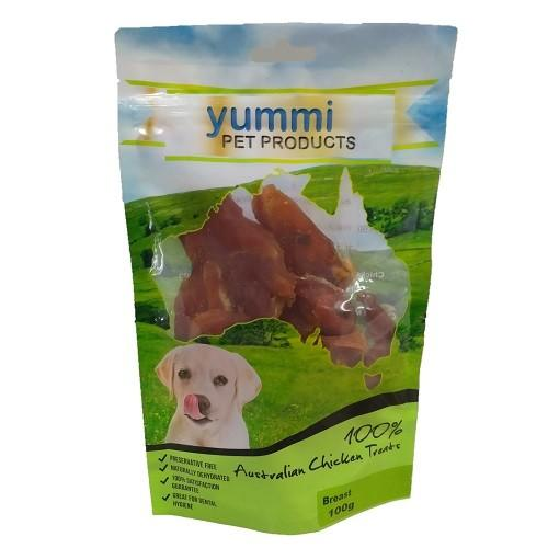 YUMMI PET CHICKEN BREAST TREATS 100G - City Country Pets and Supplies