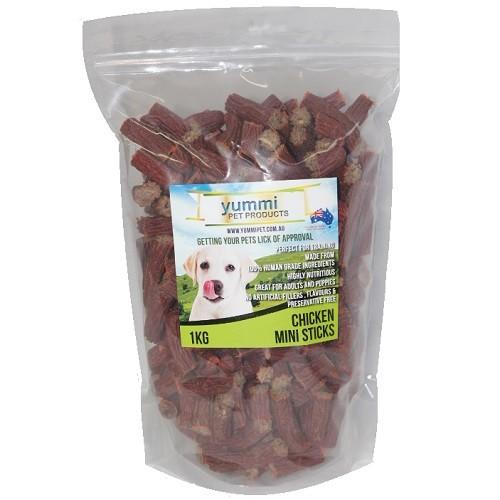 YUMMI PET CHICKEN STICKS MINI TREATS 1KG - City Country Pets and Supplies