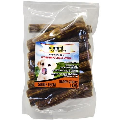 YUMMI PET HAPPY STICKS LAMB FLAVOUR 15CM / 500G - City Country Pets and Supplies