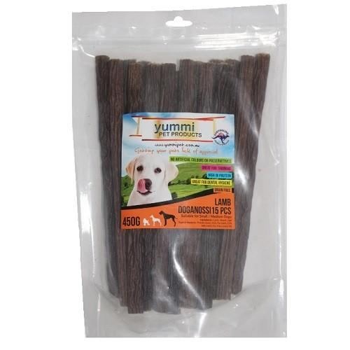YUMMI PET LAMB DOGANOSSI 15PCS (450G) - City Country Pets and Supplies