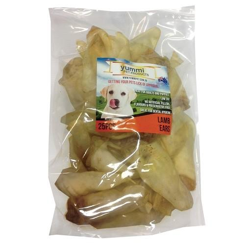 YUMMI PET LAMB EARS 25PCS - City Country Pets and Supplies