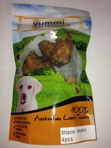 YUMMI PET LAMB SHANK HOOKS TREATS 4PC - City Country Pets and Supplies