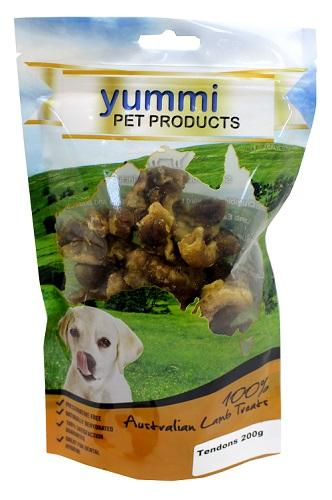 YUMMI PET LAMB TENDONS TREATS 200G - City Country Pets and Supplies