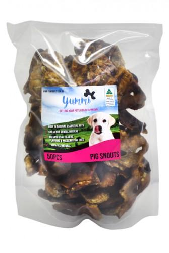 YUMMI PET PIG SNOUTS TREATS 50PCS - City Country Pets and Supplies