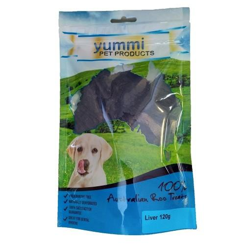 YUMMI PET ROO LIVER TREATS 120G - City Country Pets and Supplies