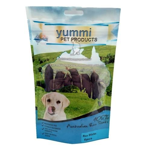 YUMMI PET ROO STICKS TREATS 6PCS - City Country Pets and Supplies