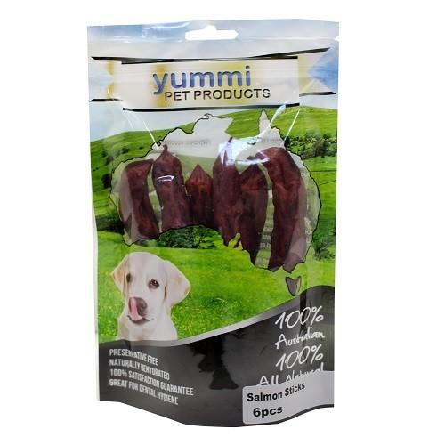 YUMMI PET SALMON STICKS TREATS 6PCS - City Country Pets and Supplies