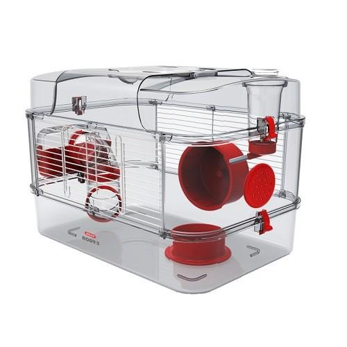 ZOLUX RODY 3 DUO SMALL ANIMAL ENCLOSURE RED 41X27X40CM - City Country Pets and Supplies