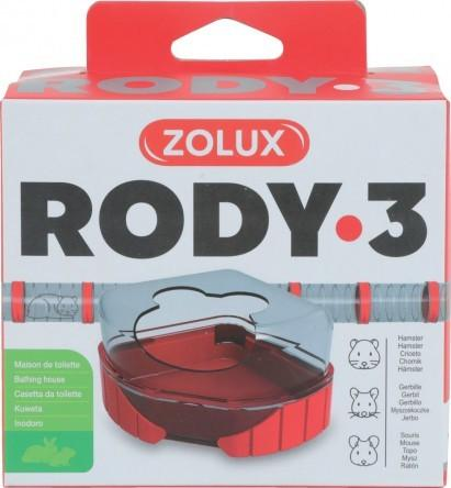 ZOLUX RODY 3 TOIL HOUSE GRENADINE - City Country Pets and Supplies