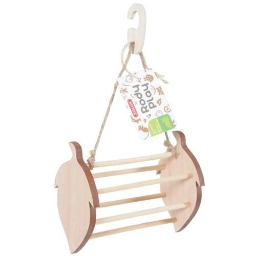 ZOLUX RODY PLAY HANGING WOODEN HAY RACK HAZELNUT - City Country Pets and Supplies