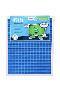 MERV 13 WASHABLE FURNACE A/C AIR FILTER - REUSABLE, NANOFIBER TECHNOLOGY