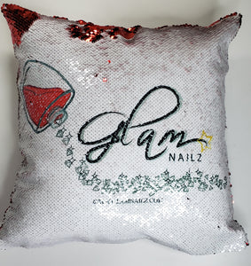Logo Flip Pillow Case and Pillow Insert