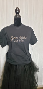 Bling Scripted T-Shirt & Apron